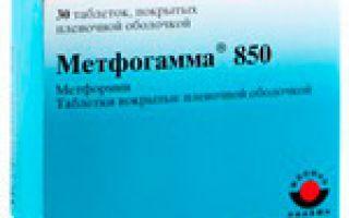 Инструкция к препарату Метфогамма