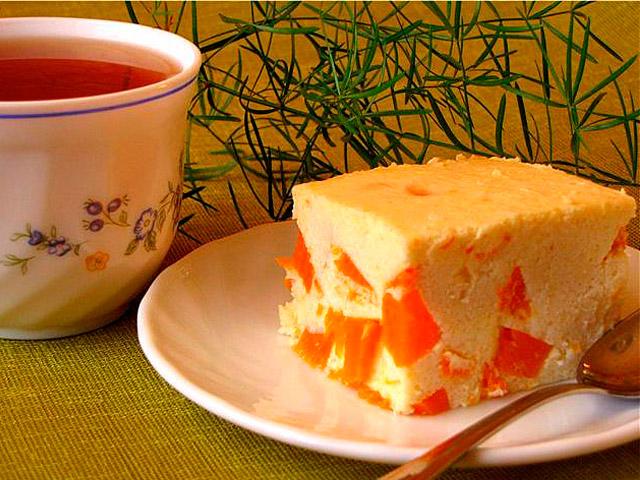 Кусочек запиканки с чаем для диабетиков