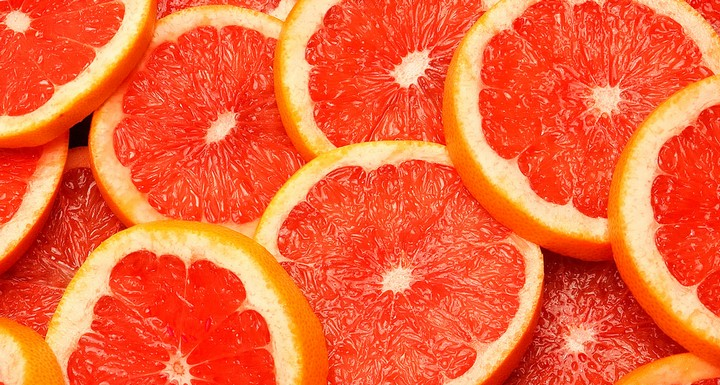 Грейпфрут разрезанный